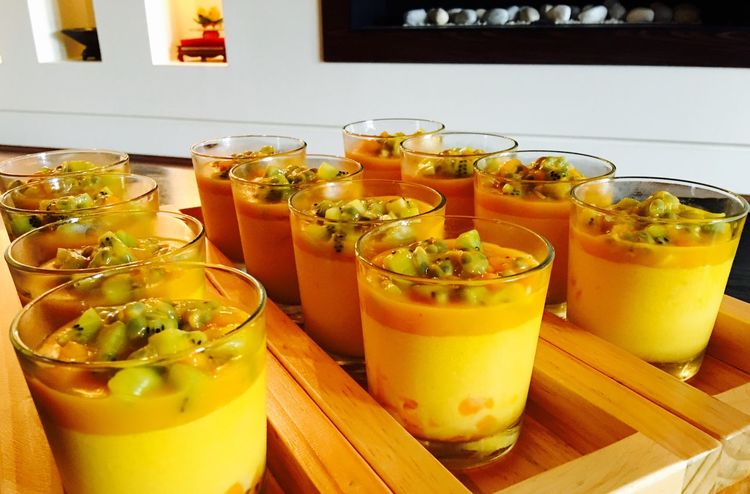 Food And Drink Freshness Indoors  Refreshment Drink Healthy Eating Close-up Transparent Large Group Of Objects Ready-to-eat Vibrant Color Appetizer Temptation Beverage Serving Size Dessert Desserts Foodporn Foodphotography Food Food And Drink Food Photography Mango Pudding Mango Pudding