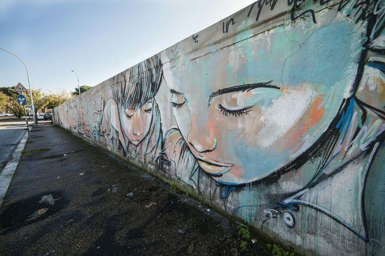 EyeEm Best Edits EyeEm Best Shots Murales Mural Art Quadraro Muro  M.U.Ro