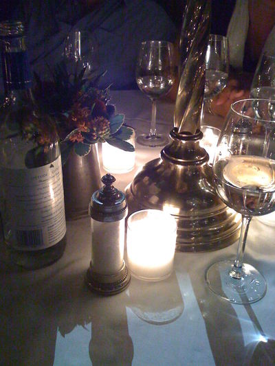 Candle Diner Table Wine Glass