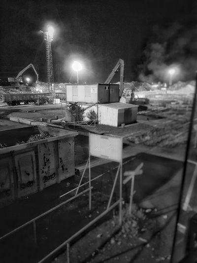 Steel Factory Scrapyard Night No People Outdoors Metal Industry