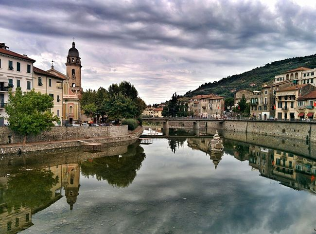 Dolceacqua Water Reflections Mirror Italy Italia Landscape_photography Landscape EyeEm Gallery Contrast Sky And Clouds