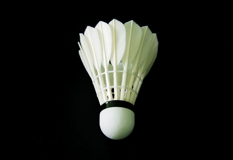 Close-up of lamp against black background