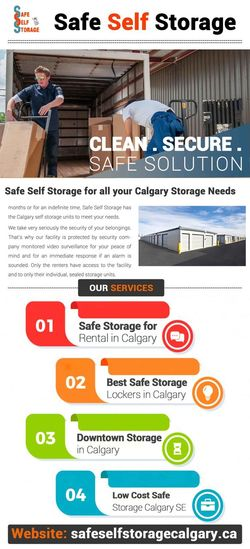 Calgary Storage Companies : Are you in a situation where you can't keep your essentials with you? Then, think no further and contact Safe Self Storage. We are one of the most reliable storage companies in Calgary, which provide safe, clean, spacious and secure storage facilities for personal and business needs. Our facility is protected by a security company monitored video surveillance for your peace of mind. Secure Self Storage Units Storage Space And Places In Calgary