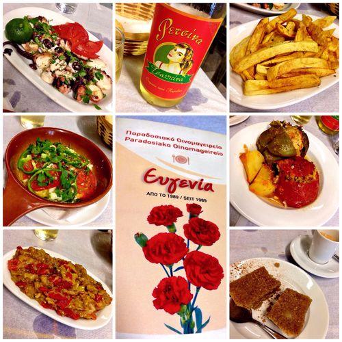 Petite traditional Greek dinner at Παραδοσιακό Οινομαγειρείο in #Athens. #ThisIsAthens #TBEX
