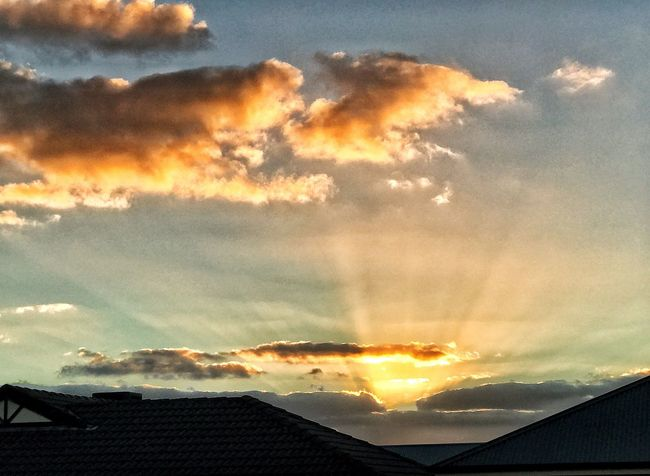 Sunset #sun #clouds #skylovers #sky #nature #beautifulinnature #naturalbeauty #photography #landscape Eye4photography  EyeEm Nature Lover Beauty In Nature Nature Cloud - Sky Tranquility Outdoors Silhouette Rays Of Light