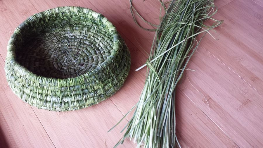 hand made yucca basket Home Made Gifts Of The Land Natural Fiber Woven Basket Native Green Yucca Basket Basket Handmade Basket Hand Made Yucca Yucca Fiber Close-up Green Color