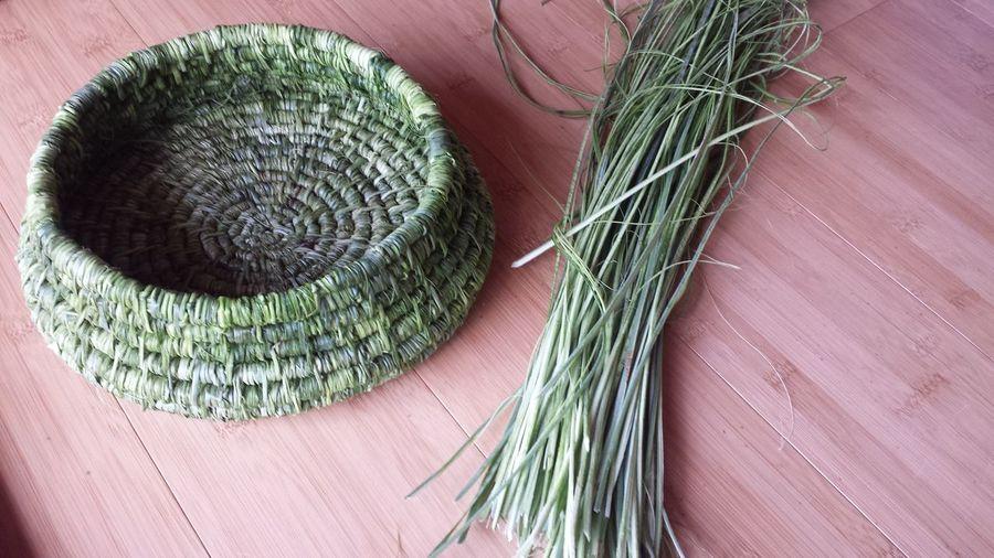 hand made yucca basket Home Made Gifts Of The Land Natural Fiber Woven Basket Native Green Yucca Basket Basket Handmade Basket Hand Made Yucca Yucca Fiber Close-up Green Color