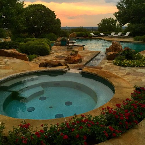 Pool time Sunset Poolside Texas Texas Skies Relax