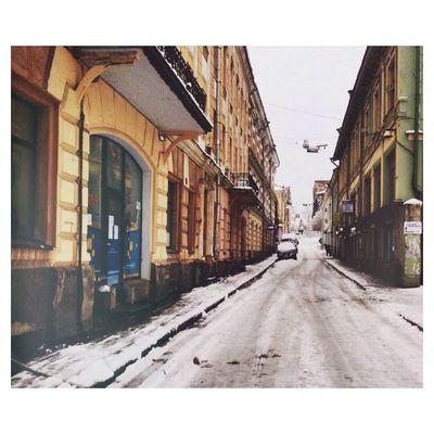Old Buildings Oldtown Vyborg Russia Winter Wonderland Taking Photos