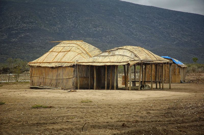 Built Structure Day Indigenous Traditions Kikapoo Kikapoo House Landscape Mexico Mountain Nature No People Outdoors Shelter Tent Tranquility