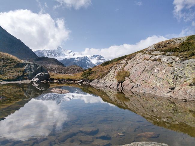 Alm Alto Adige Hiking Holiday Südtirol Alps Beauty In Nature Bergsee Cevedale Day Landscape Martelltal Mountain Nature No People Outdoors Peak Reflection Scenery Scenics Sky Snow Travel Destinations Water Waterfront