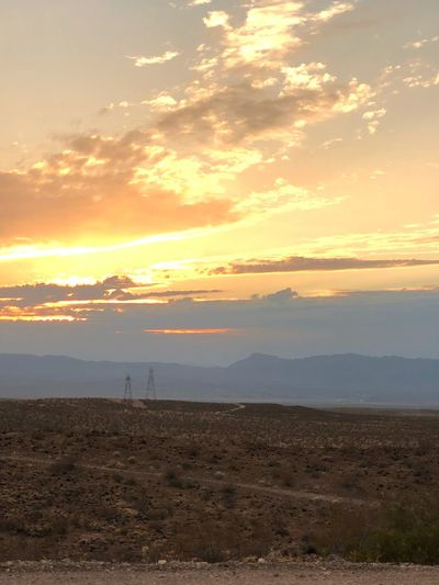 Route 66 Sunset Landscape Beauty In Nature Mountain Nature Tranquil Scene Scenics Tranquility No People Sky