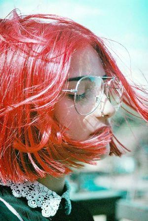 Fashion Art Close-up Contemporary Eyeglasses  Headshot Lifestyles Redhead Sunglasses Young Adult