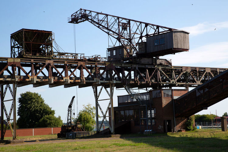 Historical And Technical Museum Architecture Bridge Bridge - Man Made Structure Building Exterior Built Structure Construction Industry Crane - Construction Machinery Day Industry Machinery Metal Mining Nature No People Outdoors Plant Sky Transportation Tree