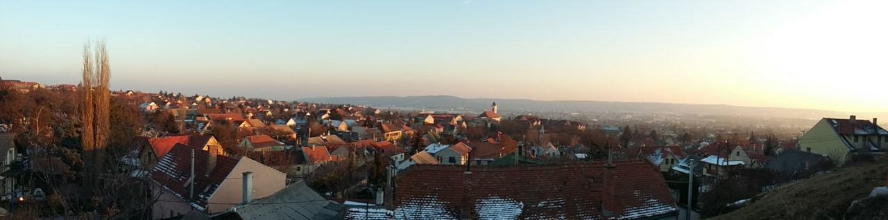 My town is beautyful :) Architecture Budaörs City Cityscape Day Landscape Nature No People Outdoors Sky Sunset Travel Destinations Winter