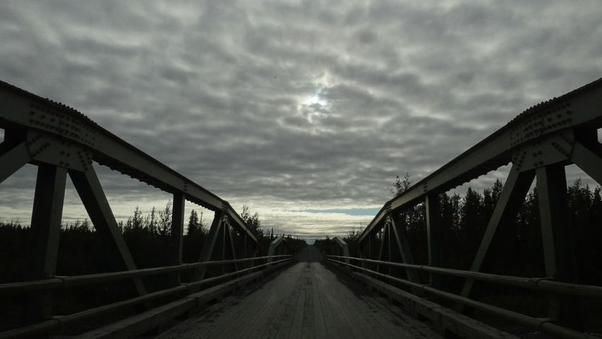 Architecture Bridge - Man Made Structure Built Structure Canada Cloud - Sky Day Dempster Highway Nature No People Outdoors Sky The Way Forward Transportation Yukon