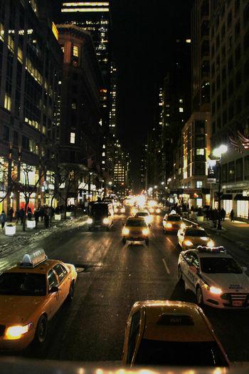 New York Night Night Lights Nightphotography NYC NYC Photography NYC Street Photography Taxi Travel