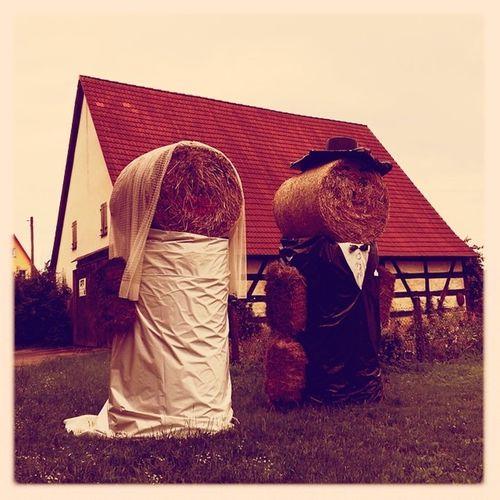 #bride and #groom #couple #pair #hay #franconia #bavaria #germany