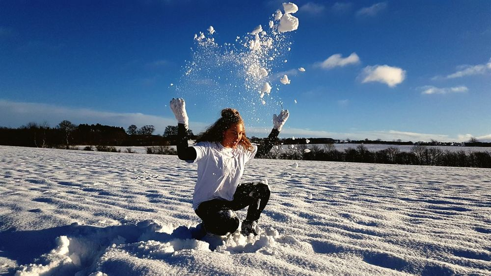 One Person Sky Child People Shadow Snow Sunlight Nature Day Motion Childhood