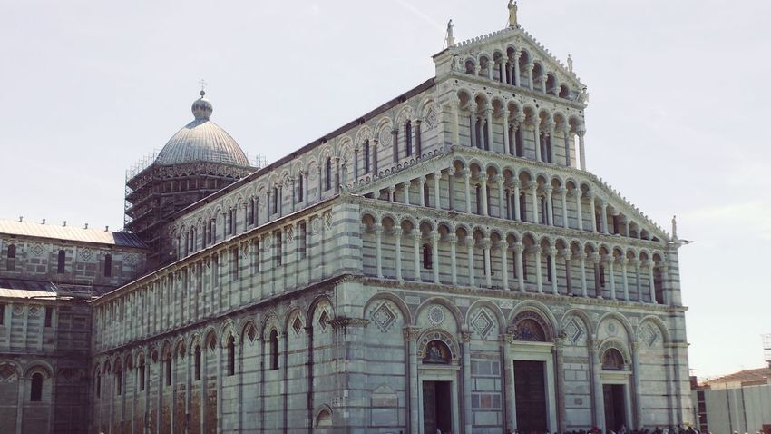 Architectural Feature Architecture Building Exterior Built Structure Capital Cities  Cathedral Catholic Church Day Dome Exterior Façade Low Angle View No People Outdoors Pisa Pisa Italy Pisa, Italy Sky Tall - High Tourism Tourist Attraction  Tourist Destination Travel Destinations