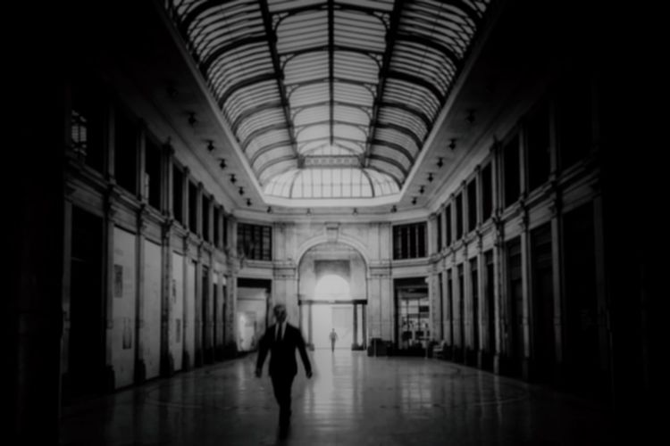 Architecture Indoors  Built Structure Arch Arcade Corridor Real People Building Walking One Person Ceiling The Way Forward Full Length Architectural Column Adult Lifestyles