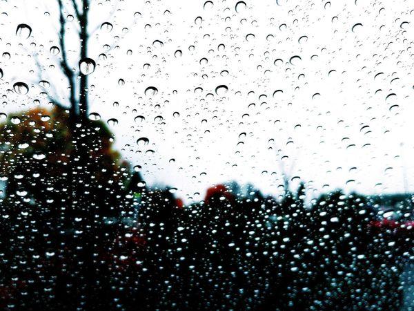 Glass - Material Drop Window Rain Weather Rainy Season RainDrop Close-up Transparent Water