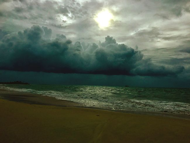 Sea Beach Beauty In Nature Sky Scenics Cloud - Sky Nature Water Tranquility Tranquil Scene Horizon Over Water No People Outdoors Storm Cloud Sand Wave Day Hurricane Irma 2017 JeanneRotaMatthews EyeEmCaribbean EyeEmNewHere EyeEm Gallery