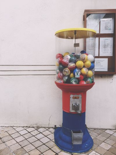 Candy vending machine on footpath
