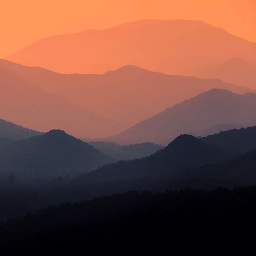 Layers of the Nature Türkiye Datca Turkey Mountain Scenics - Nature Landscape Beauty In Nature Environment Tranquility Sunset Mountain Range Tranquil Scene No People Sky Silhouette Nature Fog Idyllic Non-urban Scene Orange Color Land Outdoors Mountain Peak