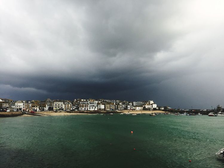 St Ives Bay St Ives Harbour Sky City Building Exterior Architecture Cityscape Nature Built Structure Outdoors Environment Cloud - Sky Harbor No People Water Storm Cloud Dramatic Scenery Day St IVES, CORNWALL Winter Storm Nature Waterfront Cornwall Life Shore