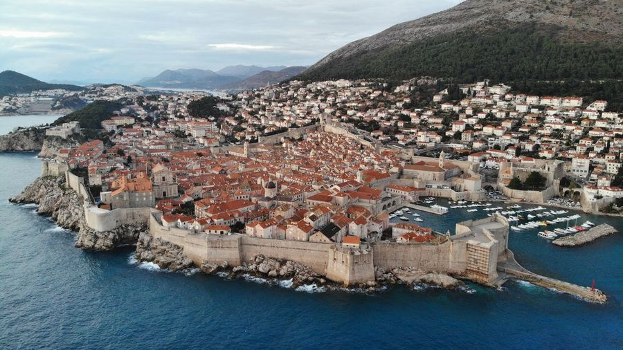 Croatia Dubrovnik Rooftop House Old Town Drone View Europe Building Exterior Architecture Adriatic Sea Crowded Travel Travel Destinations Travel Photography Seascape Ocean Beautiful Place Medieval Mediterranean  High Angle View Residential District Building City Outdoors TOWNSCAPE
