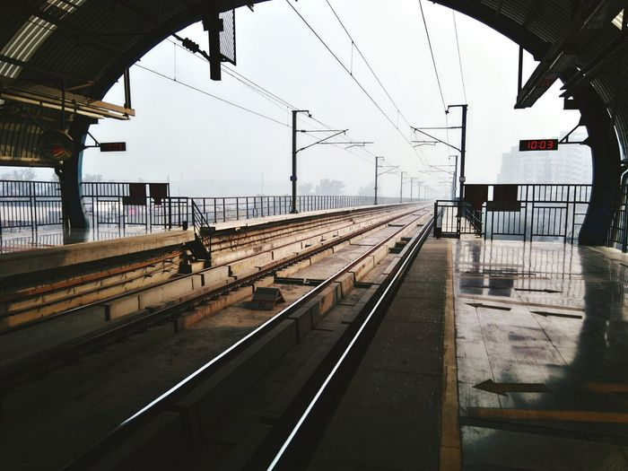 Metro Metro Station Metro Life DMRC Prospective Morning Chill Foggy Morning Chillyweather  Winters