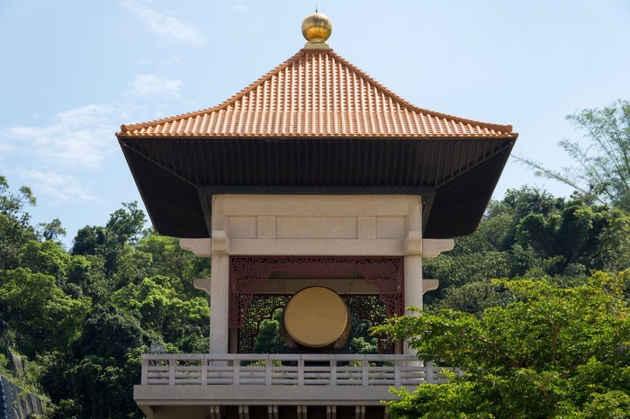 Large drum tower at Fo Guang Shan Monastery in Kaohsiung, Taiwan. ASIA Asian  Buddhist Drum Drum Tower Kaohsiung Kaohsiung, Taiwan Monastery Nature Pagoda Taiwan Taiwanese Architecture Buddhism Buddhist Temple Built Structure Chinese Culture Eastern Fo Guang Shan Oriental Religion Temple - Building Temple Architecture Tower