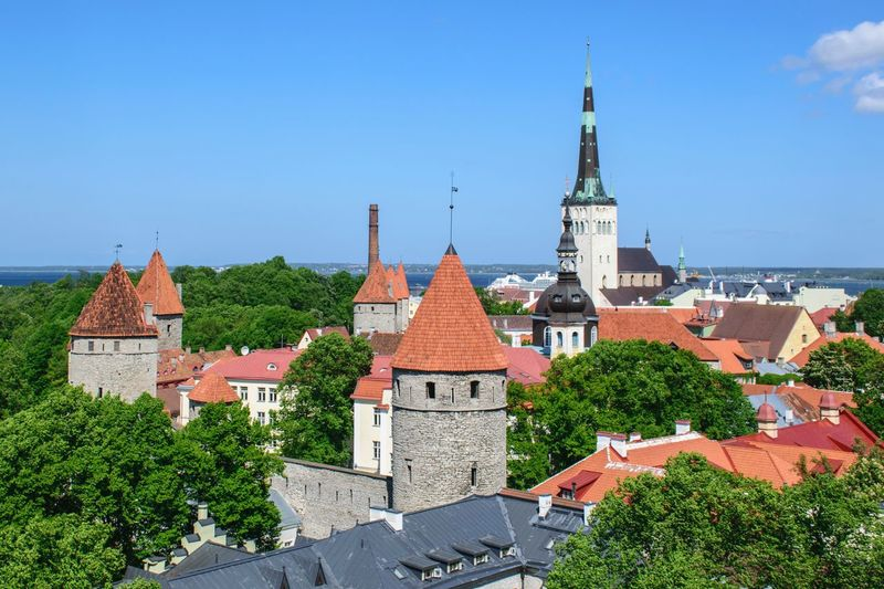 View towards the St. Olaf church in Tallinn Old Town, Estonia Architecture Tower No People Cityscape Tallinn Old Town Tallinn Estonia Tallinn St. Olaf's Church St. Olaf Church Tower Estonia Baltic Kesklinn Spire  Summer Tourism Travel EyeEmNewHere