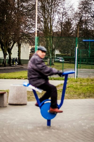 //man Enjoy The New Normal Man One Person Outdoors Sport Sitting Day Childhood People Real People Young Adult Warm Clothing Winter Ride Old Europe Poland Nikonphotography Nikon The Street Photographer - 2017 EyeEm Awards Live For The Story Second Acts