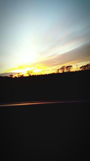 Sunset Landscape Beauty In Nature Sunset At 50mph Taken Bye My Son Age 7