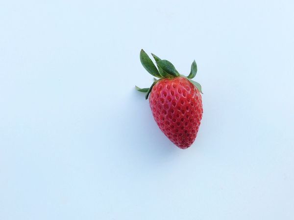 Natural Nature Strawberry Red Strawberries Fresh Freshness Red White Background Isolated My Favorite Breakfast Moment