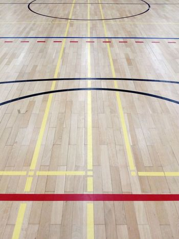 playing field limit lines on parquet in a gym sports center Parquet Wooden Paneling Background Playing Field Field Line LINE Limit Field Limit Gym Sports Center Ball Sports Indoor Sports Road Marking Striped Dividing Line Full Frame