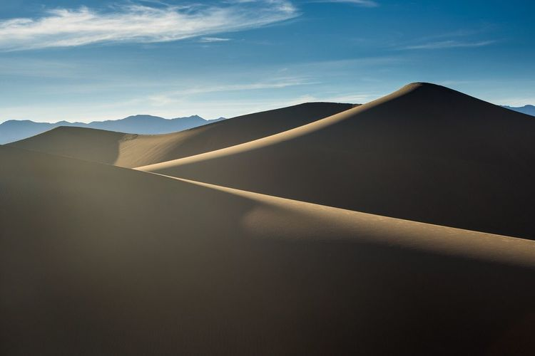 Mesquite Flat Sand Dunes Death Valley National Park Desert Dry Nature Photography Nature Outdoor Photography Landscape Shadow Silhouette Contour Mountains Sand Sand Dune California Abstract Lines Lines And Shapes