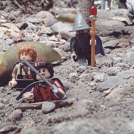 On the way to Mordor LOTR Baggins Gandalf LEGO Minifigures