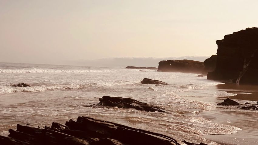 Galicia Calidade Water Sea Sky Scenics - Nature Beach Beauty In Nature Wave Horizon Horizon Over Water