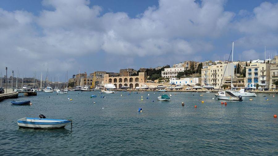 A boat. Malta