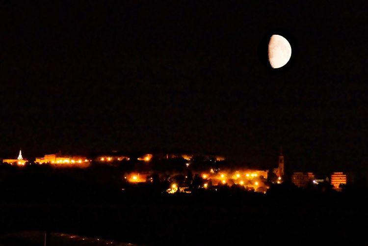 Chaude nuit à Angoulême Ville En Ville City CIELFIE Skyfie Lune Moon Premier Quartier Night Nuit Nuit D'été ÉTÉ 2016 Summer 2016 Angouleme