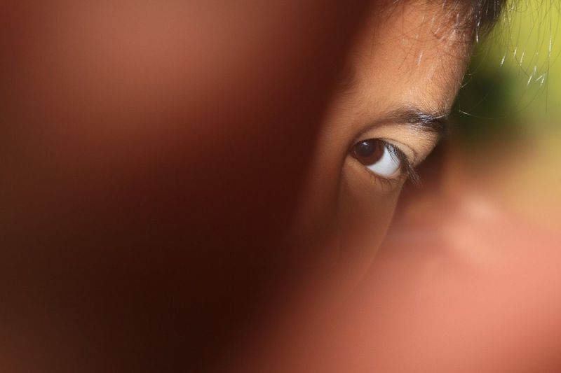 Close-up Detail Headshot Human Eye Human Face Part Of Portrait Selective Focus