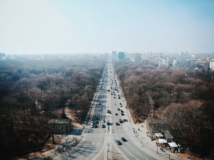 Spring from above... vanishing point Perspective From Above  Cityscape City Skyscraper Urban Skyline Aerial View Tree Road High Angle View Sky Architecture Traffic Traffic Circle Stories From The City Go Higher Adventures In The City #FREIHEITBERLIN