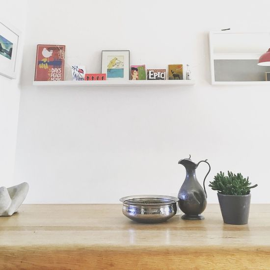 EyeEm Selects Indoors  Potted Plant No People Shelf Table Home Interior Domestic Room Day Bookshelf Wine Jug Epic Stag Decor Decoration Living Room Stuff Nick Nacks Things