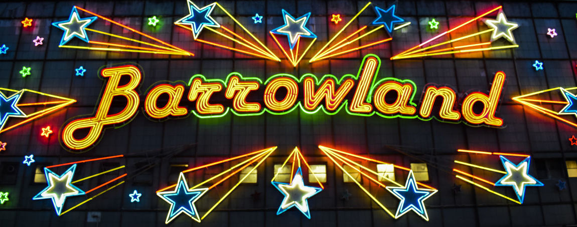 Barrowland Ballroom Glasgow  Architecture Arts Culture And Entertainment Barrowlands Built Structure Capital Letter Commercial Sign Communication Glowing Illuminated Light Lighting Equipment Low Angle View Multi Colored Neon Night Nightlife No People Outdoors Sign Text Western Script Yellow Focus On The Story