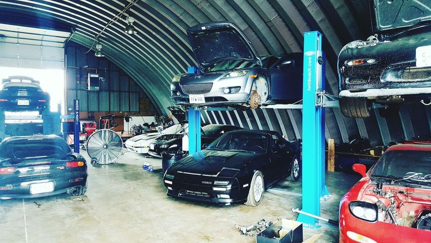 Store Indoors  No People Built Structure Architecture Day Car Transportation Cars Rx7 Fd3s Rotaryengine Auto Repair Shop Rx8Life Rx8 Rx8Club Rx8Lover Warehouse Only Men