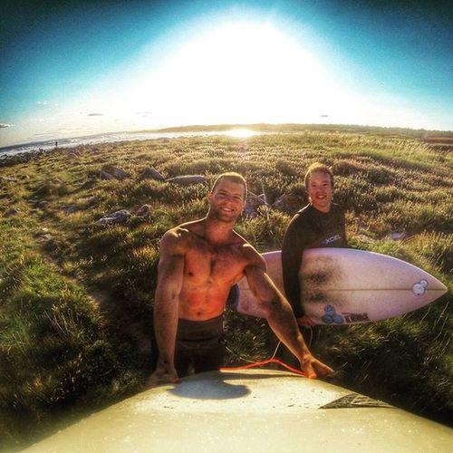 Two happy surfers Saltstein Steinane