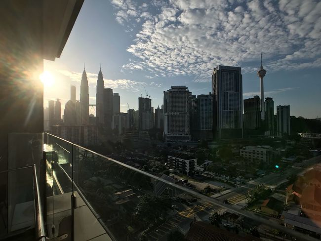 Warm Morning Architecture City Skyscraper Cityscape Built Structure Building Exterior Sky Tower Modern Cloud - Sky Travel Destinations Outdoors Urban Skyline Day